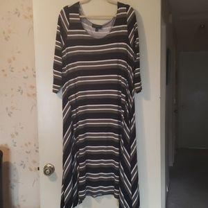 Lane Bryant Stripped Midi Dress